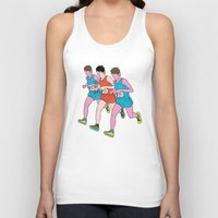 runner Tank Tops featuring The Runner by Michael Fitzgerald