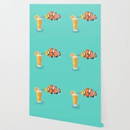 The Clown Fish Drinks Wallpaper