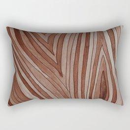 Brown Wood Grain Rectangular Pillow
