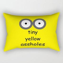 Tiny Yellow Assholes Rectangular Pillow