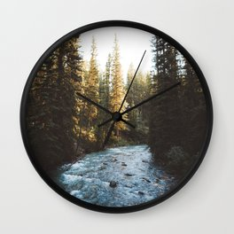 Johnston Canyon | Banff National Park, Alberta, Canada | John Hill Photography Wall Clock