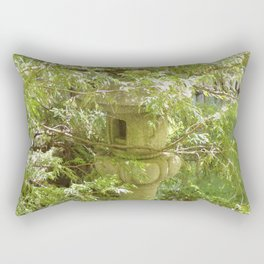 Hidden Pagoda In Lush Landscape Rectangular Pillow