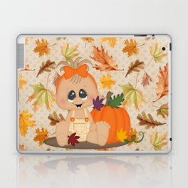 Fall Pumpkin Girl Laptop & iPad Skin