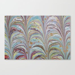 Marbled Multicolor Fountain Canvas Print