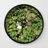 kittens Wall Clocks featuring kittens by death above