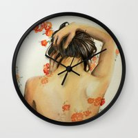 wallet Wall Clocks featuring Blend In by Madelyne Joan Templeton