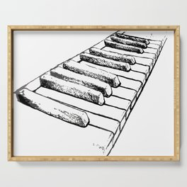 Sketching Pianos Doesn't Make You Better At Piano Serving Tray