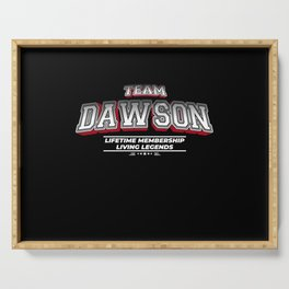 Team DAWSON Family Surname Last Name Member Serving Tray