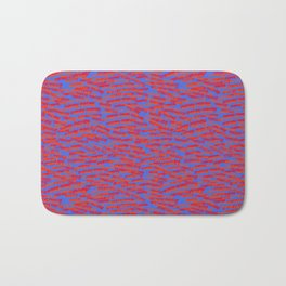red on blue money Bath Mat