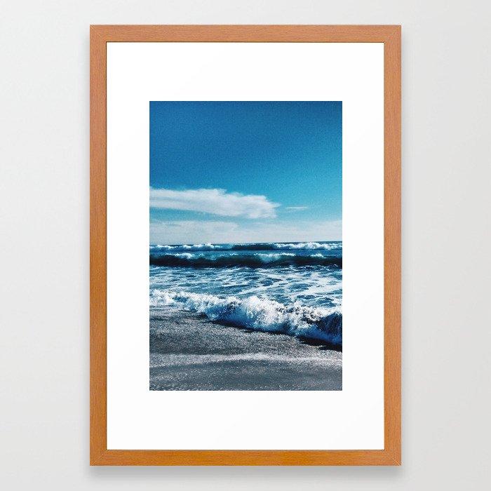 Oceanside Beach I Framed Art Print