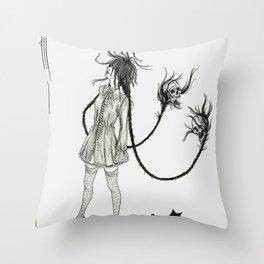 Dead Heads Throw Pillow