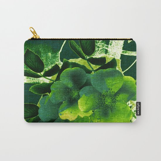 green floral Carry-All Pouch