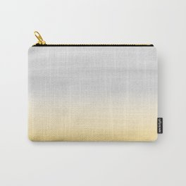 Touching Yellow Gray Watercolor Abstract #1 #painting #decor #art #society6 Carry-All Pouch