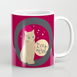 Mysterious transformation of the black cat on the sunset :) Coffee Mug