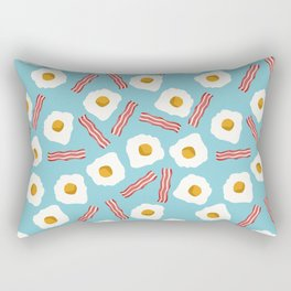 eggs and bacon breakfast food fight apparel and gifts Rectangular Pillow