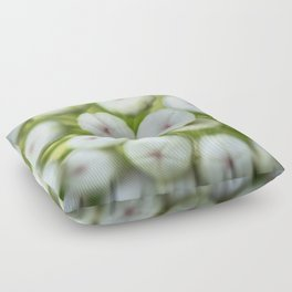 Wht-flowered Milkweed Floor Pillow