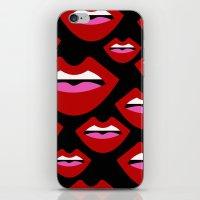 lips iPhone & iPod Skins featuring Lips by Nastya Bo