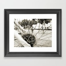 Across the axes Framed Art Print