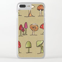 Mushrooms Forest Floor Toadstools Clear iPhone Case