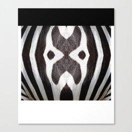 Zebra Texture Pattern Canvas Print
