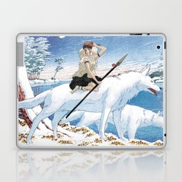 Mononoke and the wolves vintage japanese mashup Laptop & iPad Skin