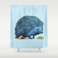 sonic Shower Curtains featuring Sonic by Eric Fan