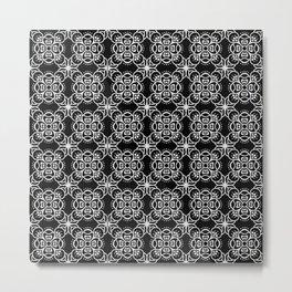 black boho pattern 2 Metal Print