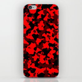 Camouflage Black and Red iPhone Skin