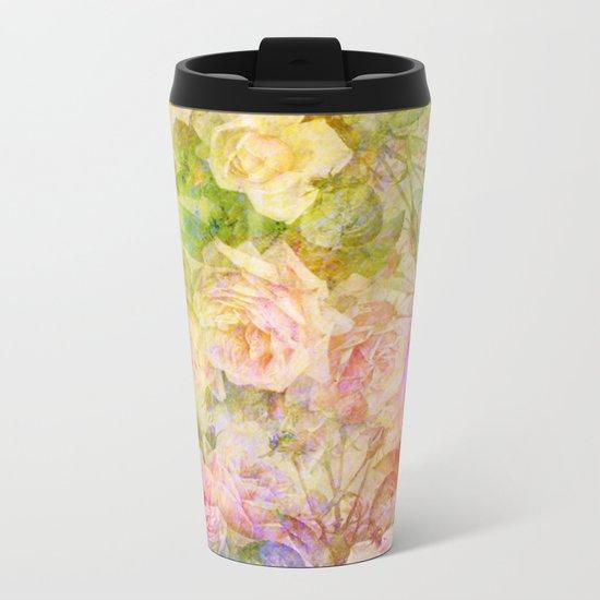 douces roses Metal Travel Mug