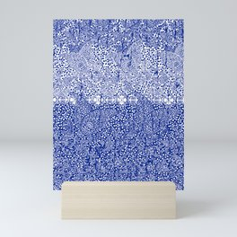 sarasa paisley all over in blues Mini Art Print