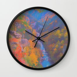Painted Ravine Wall Clock