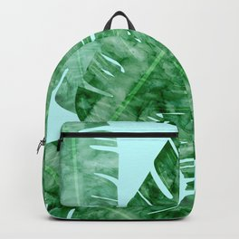 Composition tropical leaves X Backpack