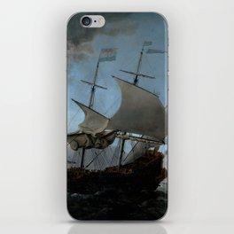 """Willem van de Velde """"The Dutch Fleet Assembling"""" iPhone Skin"""