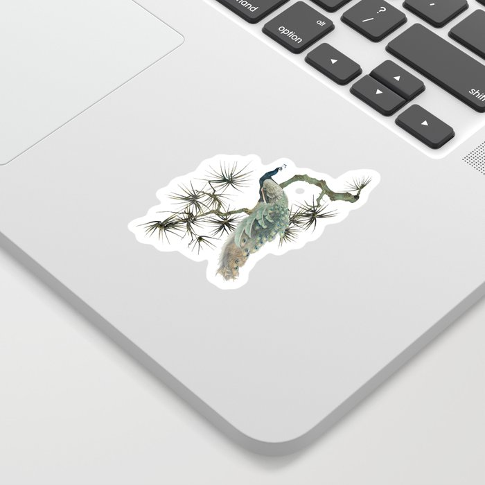 Turquoise Peacock Sticker