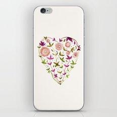 GARDEN HEART - PURPLE iPhone & iPod Skin