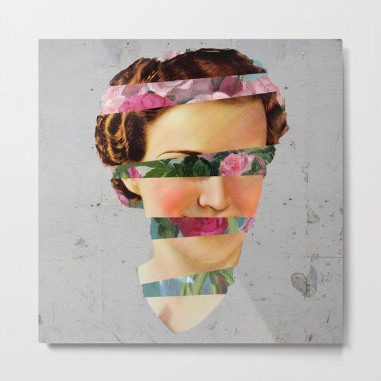Flower Face Metal Print