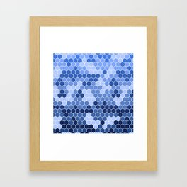 Honeycomb Blue Pattern | Geometric Shapes | Home Decor | Sapphire | For Him | For Her Framed Art Print