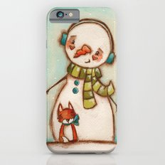 Fox and Friend - Snowman and Fox in the snow iPhone 6s Slim Case
