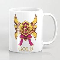 league of legends Mugs featuring Pink League of Legends Gold Tier  by Big Little POP World