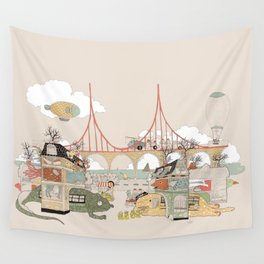 City of Animamaly Wall Tapestry