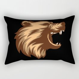 Angry Grizzly Bear Rectangular Pillow