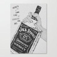 jack daniels Canvas Prints featuring Jack Daniel's by AshleyRose