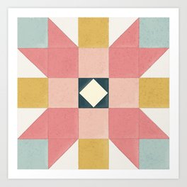 Patchwork Barn Quilt Art Print