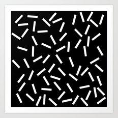 Sprinkles Black Art Print