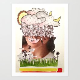 wait out the weather that howls in my brain Art Print