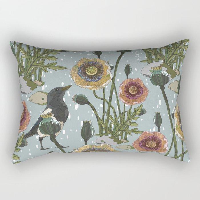 Aye Aye Magpie! Rectangular Pillow
