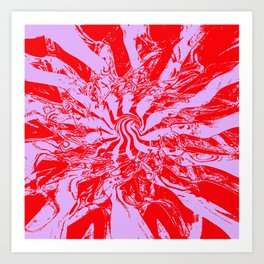 Pattern #2 H - Red Purple Swirl Art Print