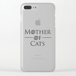 Mother of Cats, Cat Mom, Cat Lover Clear iPhone Case