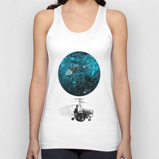 walk in space Unisex Tank Top