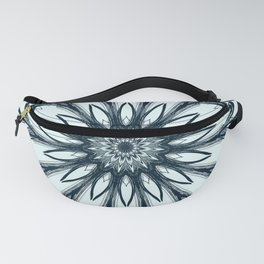 Black and White w/Teal Accent Mandala Fanny Pack